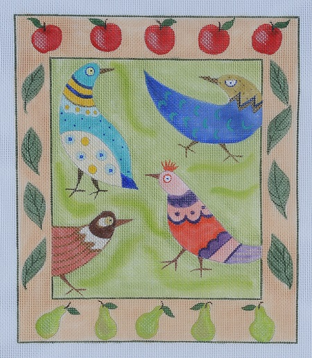 click here to view larger image of Funky Chickens (hand painted canvases)