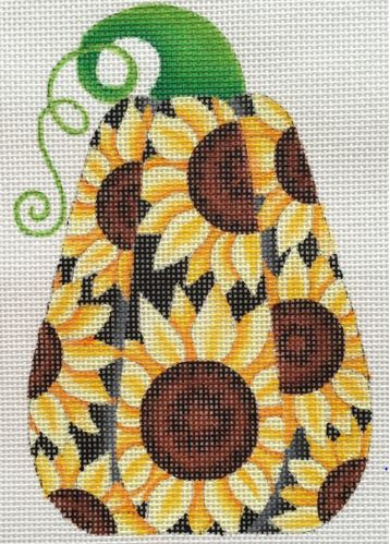 click here to view larger image of Pumpkin Yellow Sunflowers (hand painted canvases)