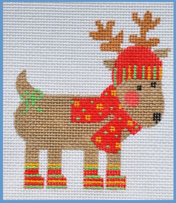 click here to view larger image of Striped Reindeer (hand painted canvases)