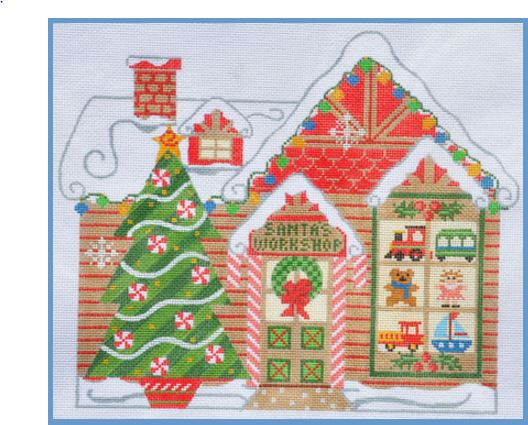 click here to view larger image of Santa's Workshop (hand painted canvases)
