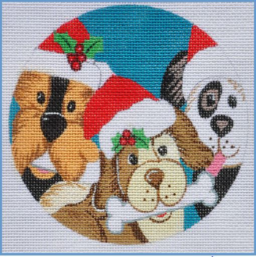click here to view larger image of Woof Ornament (hand painted canvases)