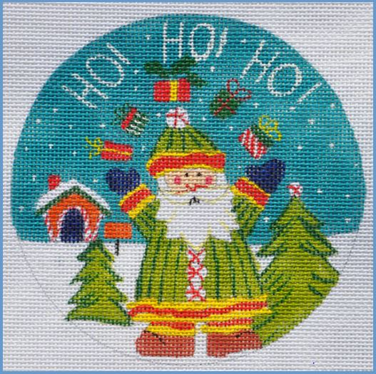 click here to view larger image of Ho Ho Ho Ornament (hand painted canvases)