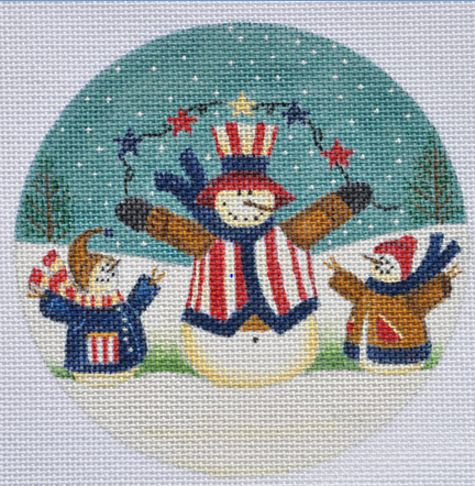 click here to view larger image of Ameri-christmas Ornament (hand painted canvases)