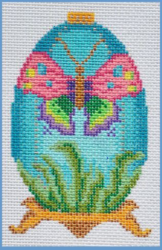 click here to view larger image of Butterfly Egg (hand painted canvases)