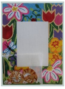 click here to view larger image of Kittens Seasons Picture Frame (hand painted canvases)