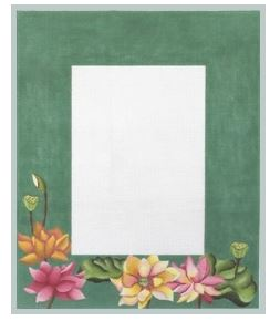click here to view larger image of Lotus Frame (hand painted canvases)