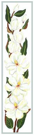 click here to view larger image of Magnolia Bell Pull (hand painted canvases)