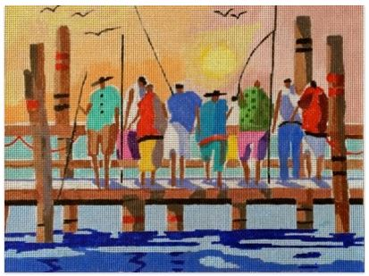 click here to view larger image of Pier Pressure (hand painted canvases)
