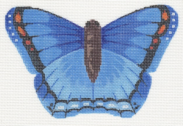 click here to view larger image of Blue Butterfly (hand painted canvases)