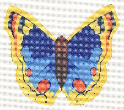 click here to view larger image of Blue and Yellow Butterfly (hand painted canvases)