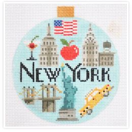 Travel Round - New York hand painted canvases