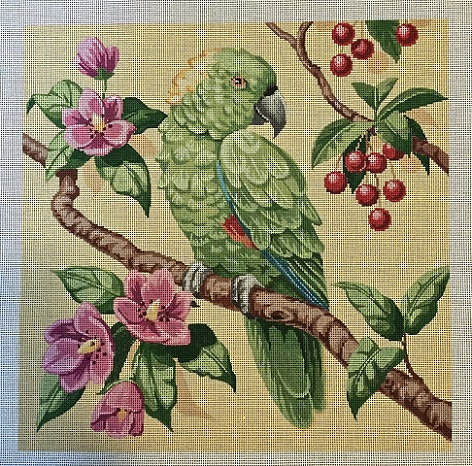 click here to view larger image of Green Parrot (hand painted canvases)
