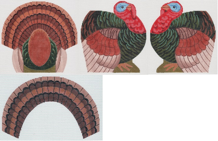 click here to view larger image of Small Dimensional Turkey (hand painted canvases)