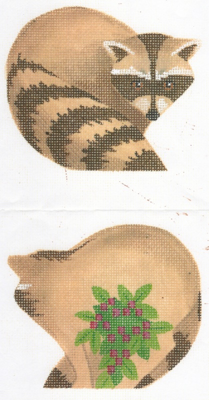 click here to view larger image of Raccoon Clip On Ornament (hand painted canvases)