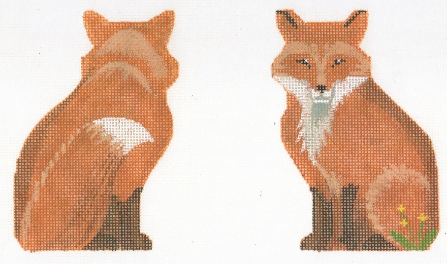 click here to view larger image of Fox Clip On Ornament (hand painted canvases)