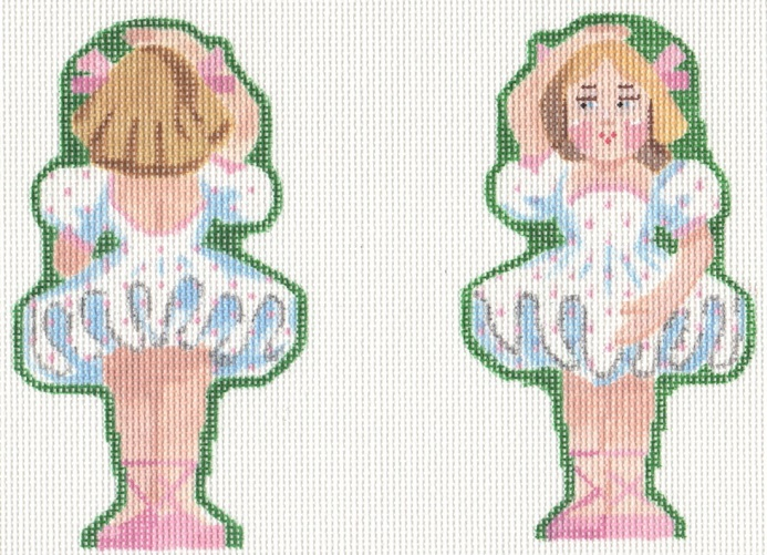 click here to view larger image of Dancing Lady - 12 Days Clip-On (hand painted canvases)