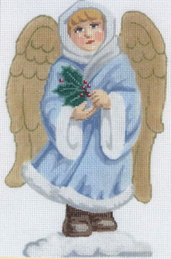 click here to view larger image of Angel With Holly (hand painted canvases)
