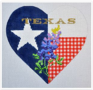 click here to view larger image of Bluebonnet Heart (hand painted canvases)