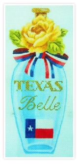 click here to view larger image of Texas Belle Perfume Bottle (hand painted canvases)