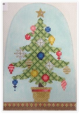 click here to view larger image of Christmas Snowdome - Little Tree (hand painted canvases)