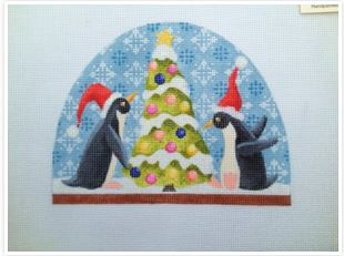click here to view larger image of Penguin Snow Dome  (hand painted canvases)