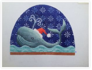 click here to view larger image of Whale Snow Dome  (hand painted canvases)