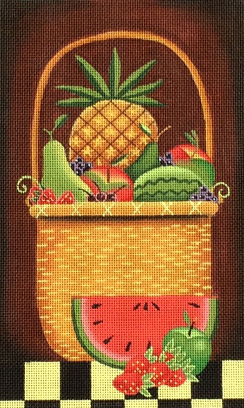 click here to view larger image of Fruit Basket (hand painted canvases)