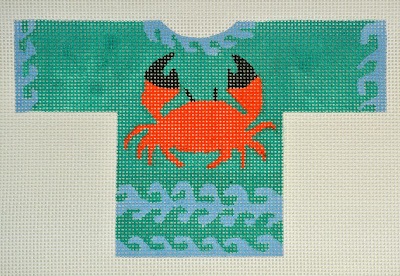 click here to view larger image of Feeling Crabby Sweater (hand painted canvases)