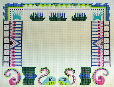 click here to view larger image of Mayan Frame (hand painted canvases)