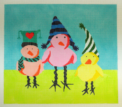 click here to view larger image of Keep Your Feathers Warm (hand painted canvases)
