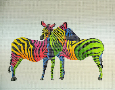 click here to view larger image of Wild Zebras (hand painted canvases)