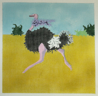 click here to view larger image of Ostrich Boa (hand painted canvases)