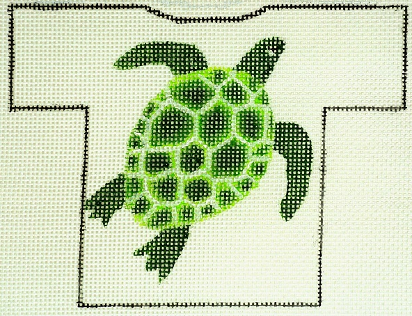 click here to view larger image of Sea Turtle T-Shirt Ornament (hand painted canvases)