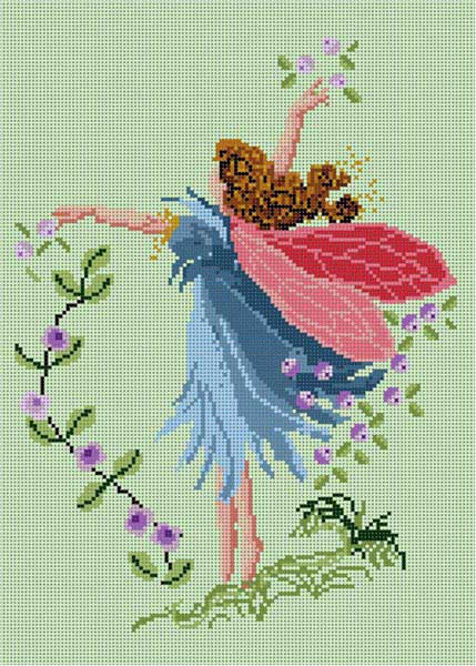 click here to view larger image of Blue Fairy (hand painted canvases)