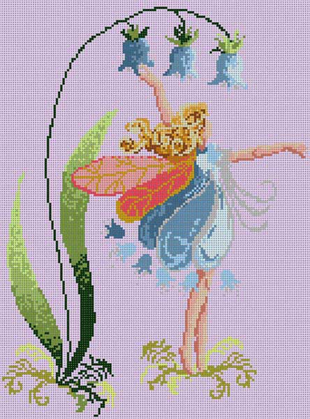 click here to view larger image of Blue Bell Fairy (hand painted canvases)