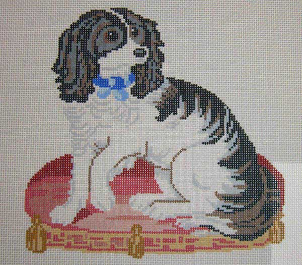 click here to view larger image of Victorian Spaniel (hand painted canvases)