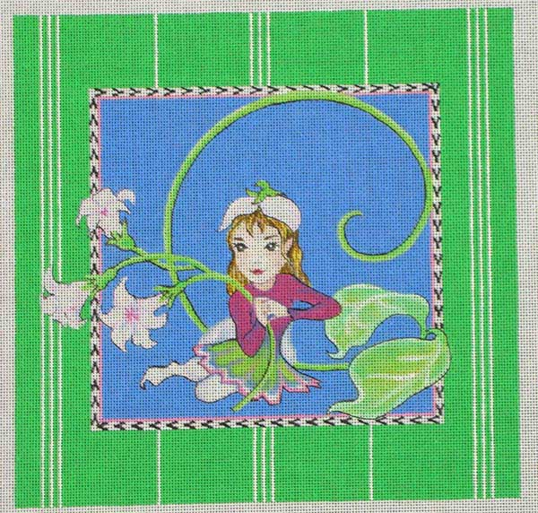 click here to view larger image of Fairy With Flowers (hand painted canvases)