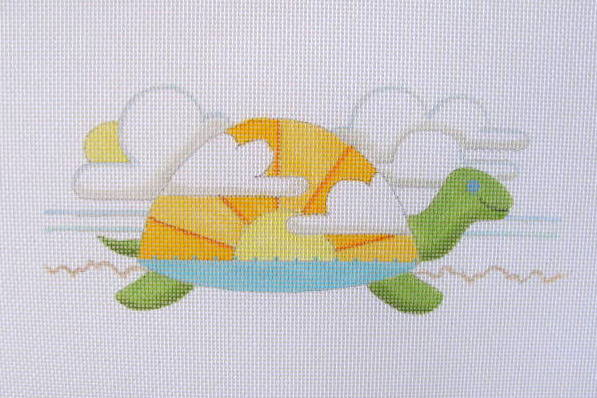 click here to view larger image of June - Sunset Turtle (hand painted canvases)