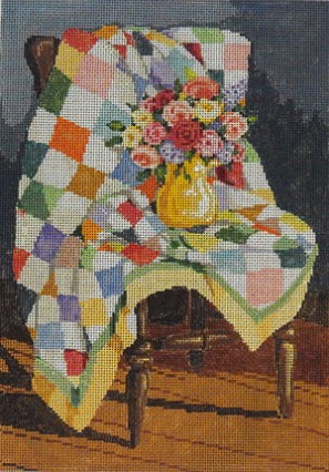 click here to view larger image of Quilt - 18ct (hand painted canvases)