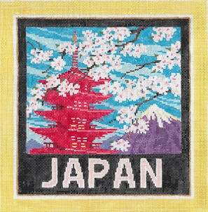 click here to view larger image of Japan (hand painted canvases)