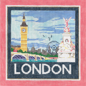 click here to view larger image of London (hand painted canvases)