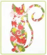 click here to view larger image of Christmas Cat (hand painted canvases)