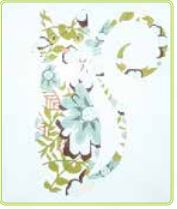 click here to view larger image of Blue Spring Cat (hand painted canvases)