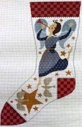 click here to view larger image of Angel of Peace Stocking (hand painted canvases)