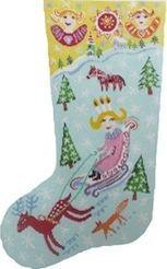 click here to view larger image of Swedish Christmas Stocking (hand painted canvases)