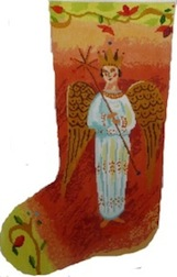 click here to view larger image of Heavenly Angel Stocking (hand painted canvases)