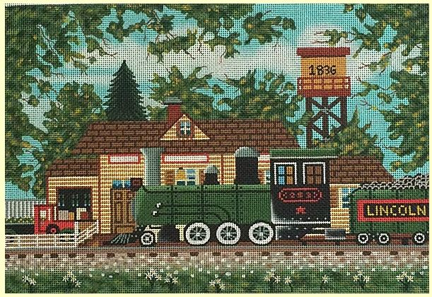 click here to view larger image of Oak Landing Depot (hand painted canvases)