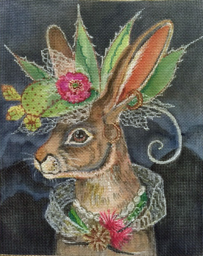 Jack Rabbit With Fantastic Hat hand painted canvases