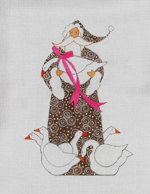 click here to view larger image of Goose Santa, The (hand painted canvases)