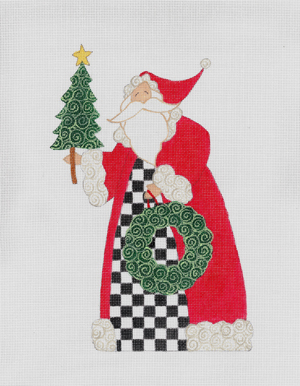 Checkered Santa, The hand painted canvases